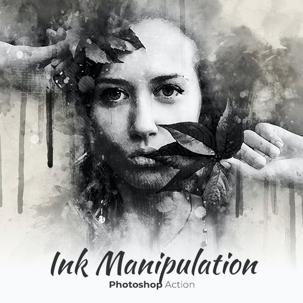 Ink Manipulation Photoshop Action