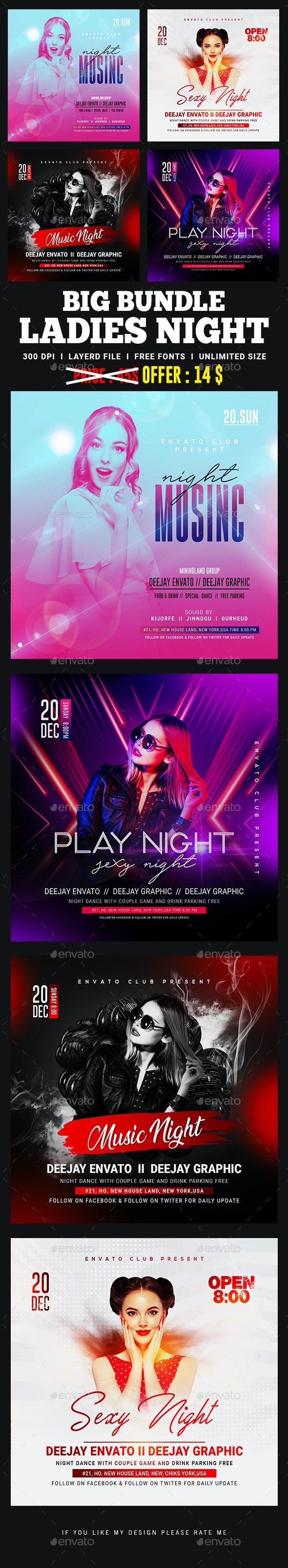 Ladies Night Club Flyer Bundle - Clubs & Parties Events