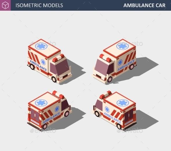 Ambulance Car or Emergency Medical Service - Health/Medicine Conceptual