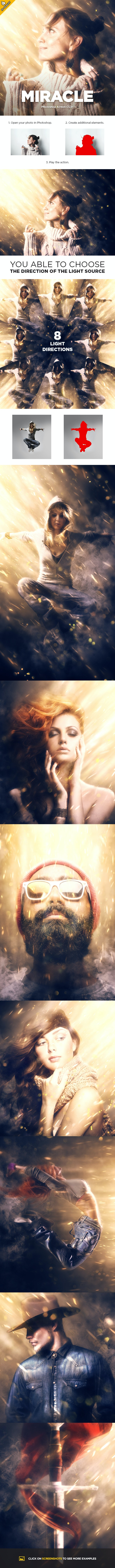 Miracle CS4+ Photoshop Action - Photo Effects Actions