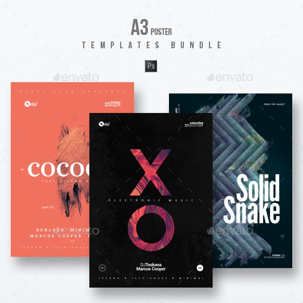 Minimal Sound vol.10 - Party Flyer / Poster Templates Bundle