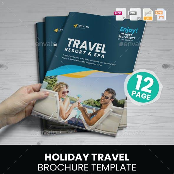 Holiday Travel Brochure Design v6