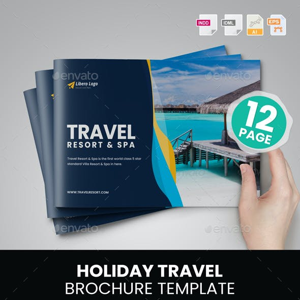 Holiday Travel Brochure Design v7