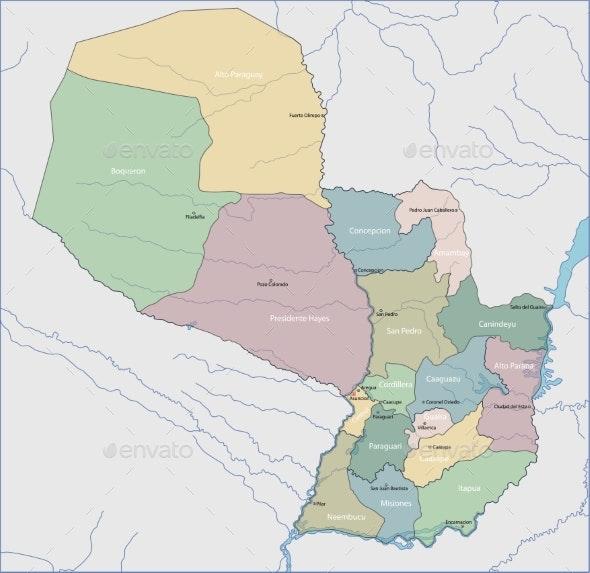 Map of Paraguay - Miscellaneous Vectors