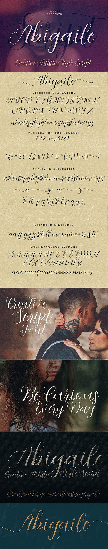 Abigaile Script Font - Calligraphy Script