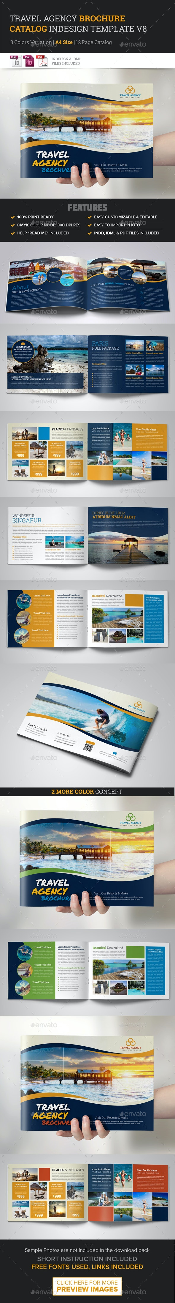 Travel Agency Brochure Catalog InDesign Template v8 - Corporate Brochures
