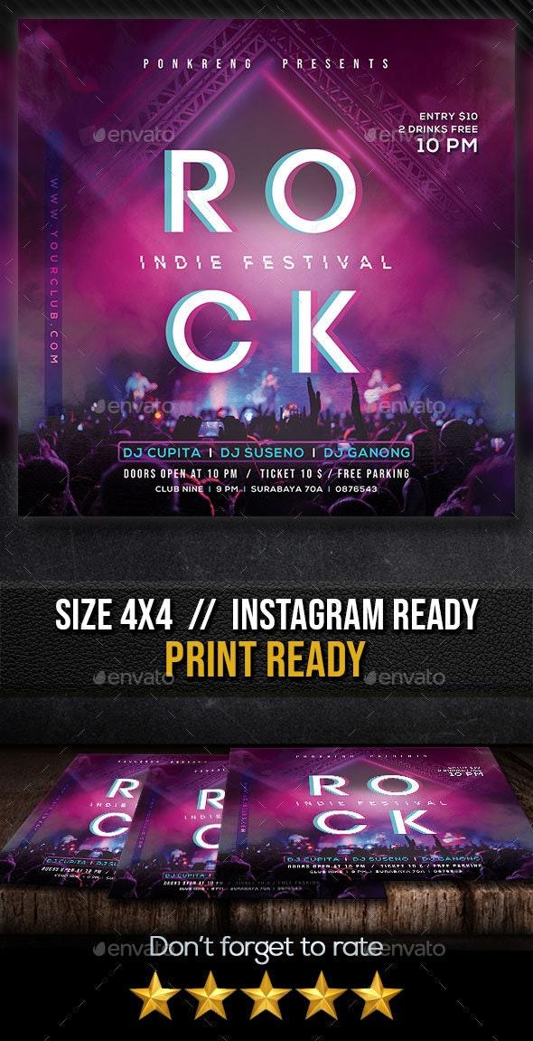 Rock Festival Flyer - Clubs & Parties Events