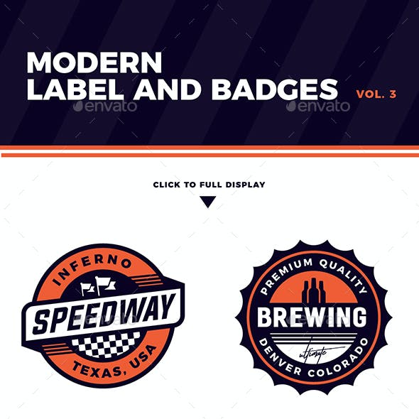 Modern Label and Badges Vol. 3