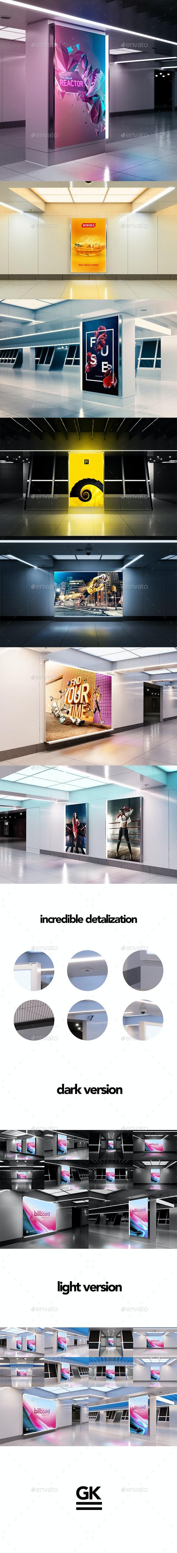 Billboard Mock-up - Ad Station Series - Posters Print