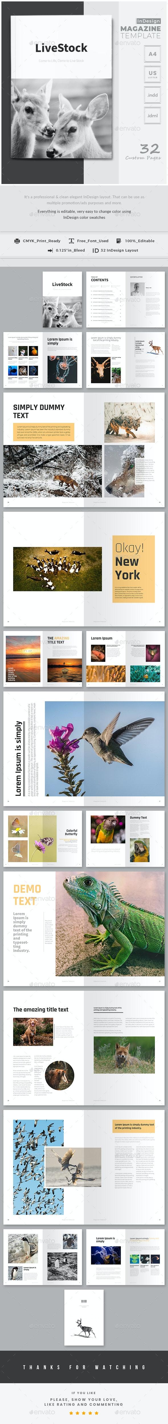 InDesign Magazine Templates - Magazines Print Templates