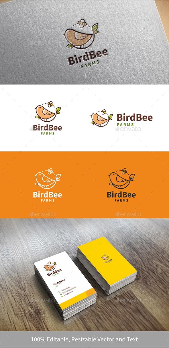 Bird Bee for Poultry Farm Logo - Logo Templates