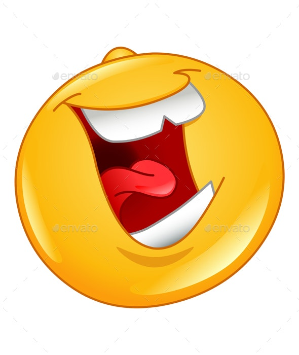 Laughing out Loud Emoticon - People Characters