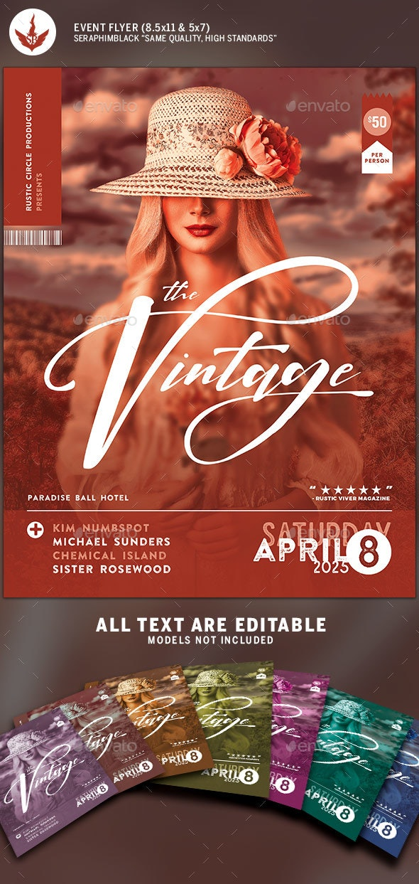 Vintage Concert Flyer Template - Events Flyers
