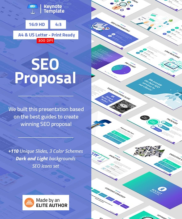 SEO Proposal Keynote Presentation Template - Business Keynote Templates