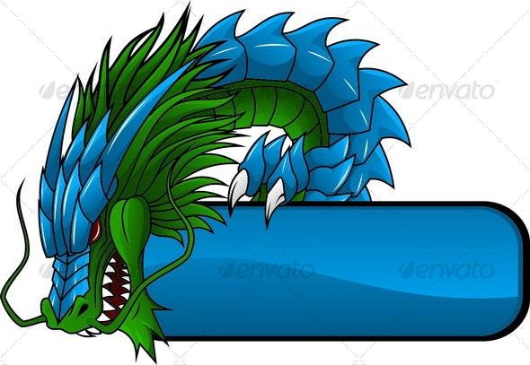 Dragon Banner 1 - Decorative Vectors