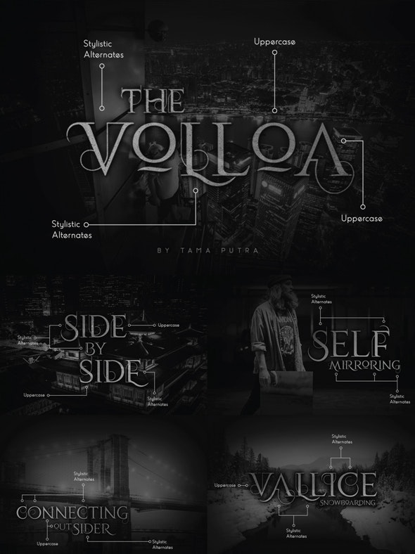 Volloa Decorative Serif Typeface - Serif Fonts