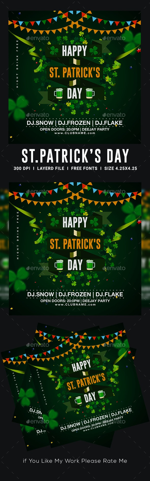 St. Patricks Day Flyer - Clubs & Parties Events