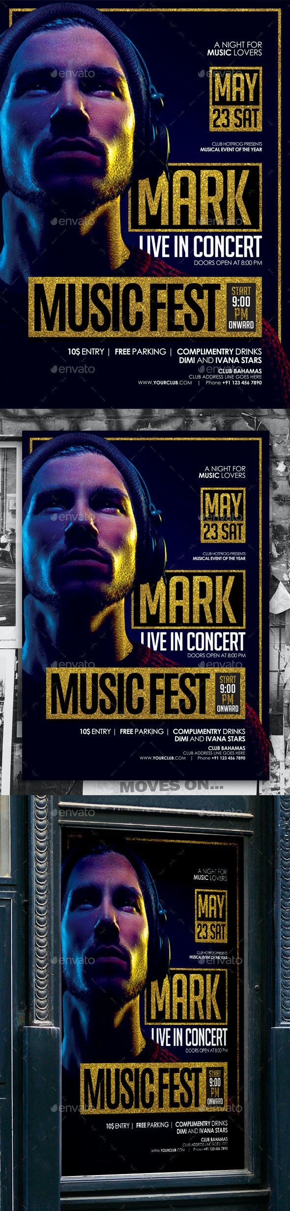Music Artist Poster - Events Flyers