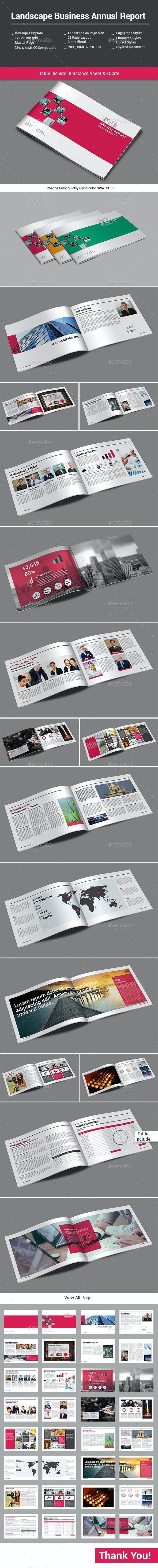 Landscape Business Annual Report - Informational Brochures