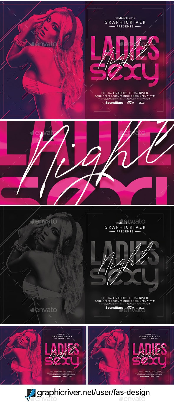 Ladies sexy night flyer - Clubs & Parties Events