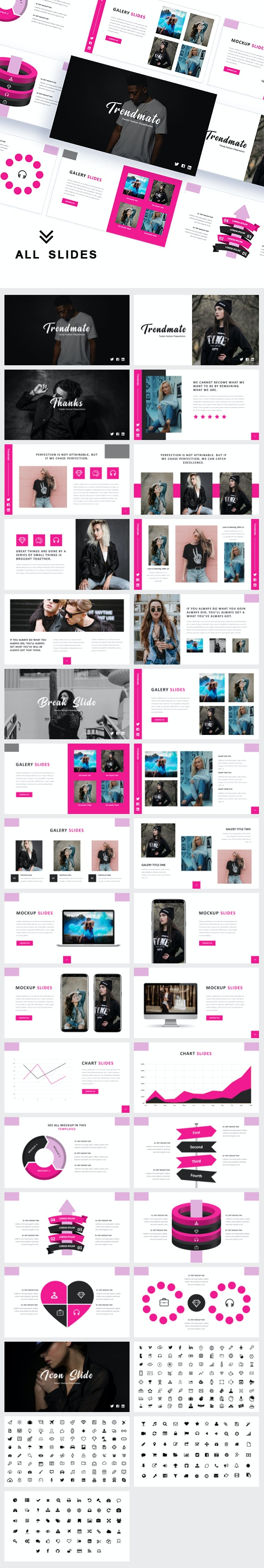 Trendmate - Fashion Trendy Power Point Template - Creative PowerPoint Templates