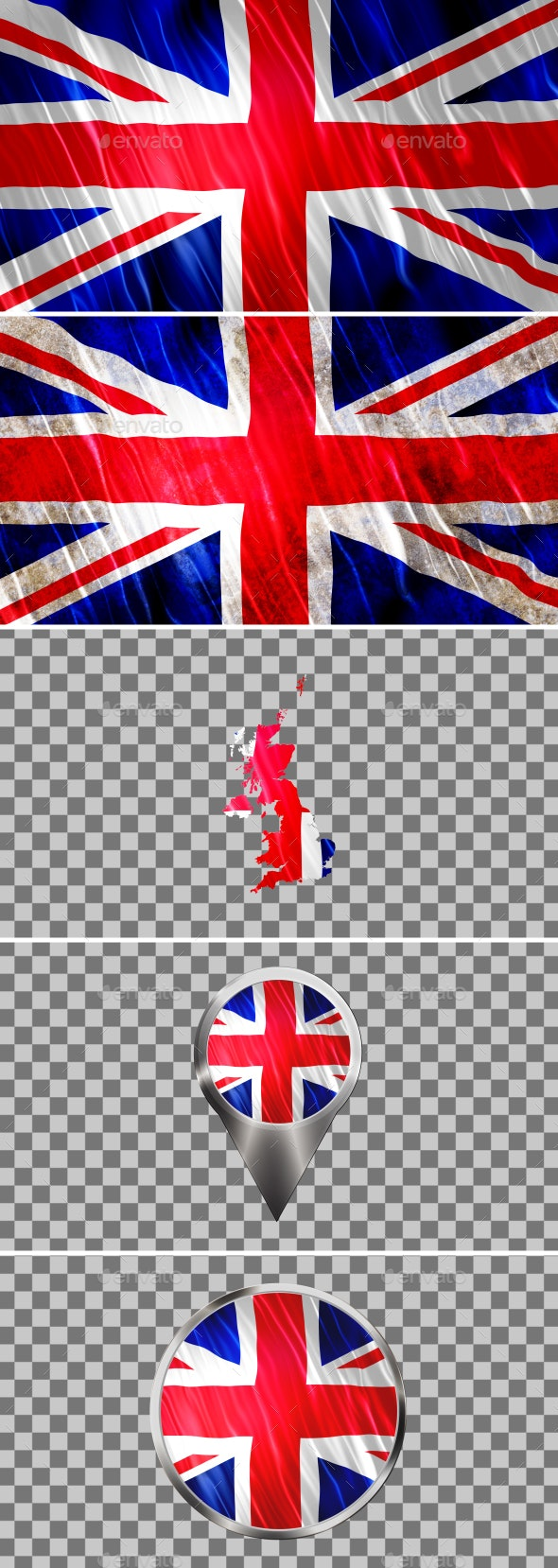 UK Flags Icons Map Kit - Backgrounds Graphics