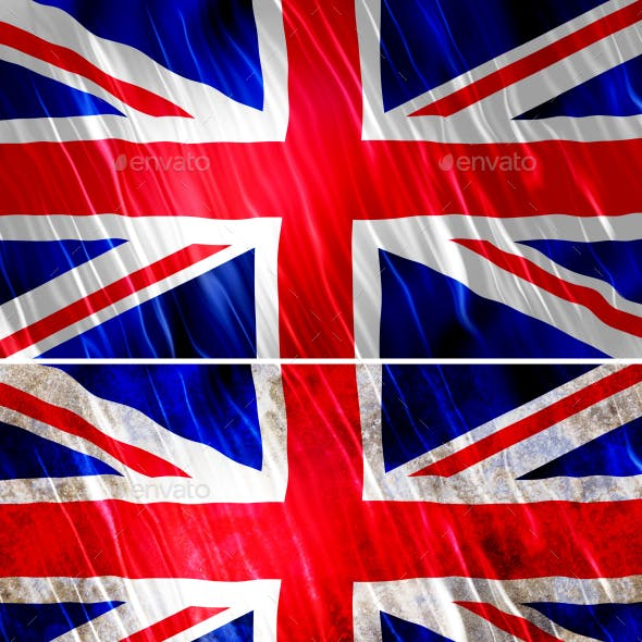 UK Flags Icons Map Kit