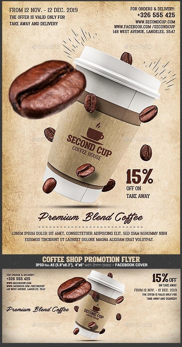 Coffee Shop Promotion Flyer - Restaurant Flyers