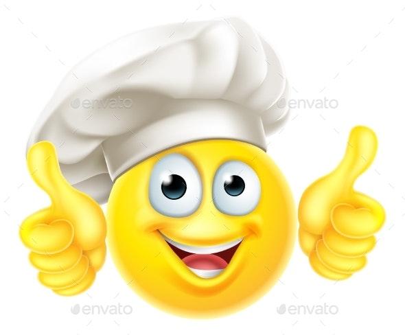 Emoji Chef Cook Cartoon Thumbs Up - Miscellaneous Vectors