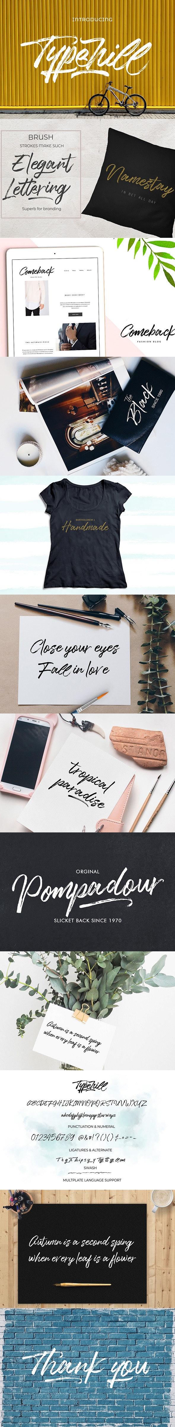 Typehill - Script Fonts