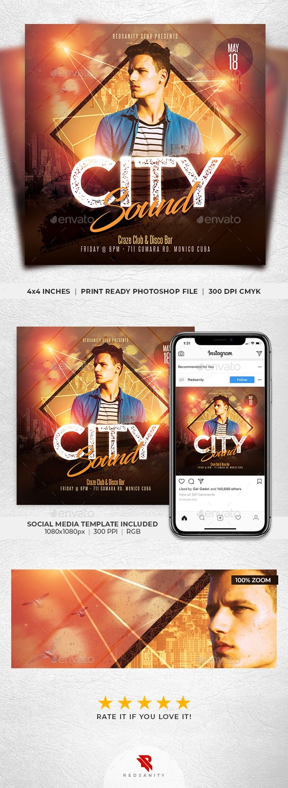 City Sound Flyer - Clubs & Parties Events