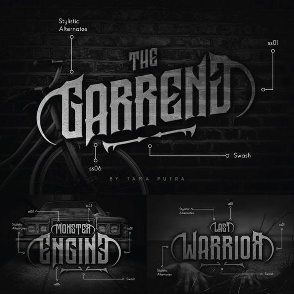 Garreng Decorative Serif Typeface