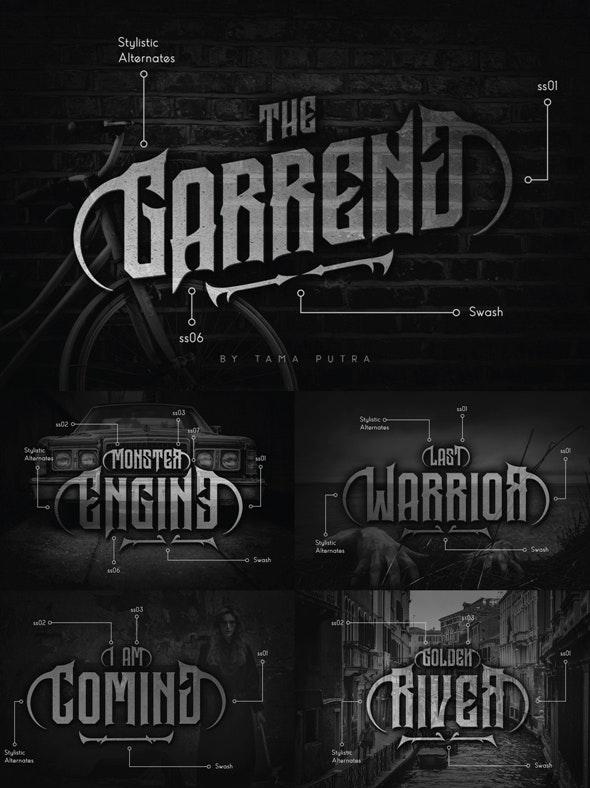 Garreng Decorative Serif Typeface - Gothic Decorative