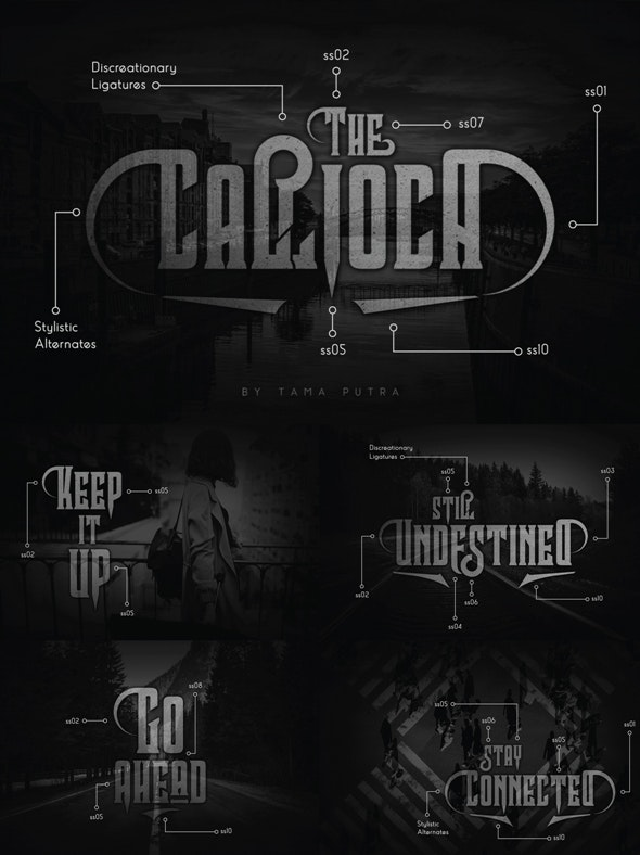Callioca Decorative Serif Typeface - Decorative Fonts