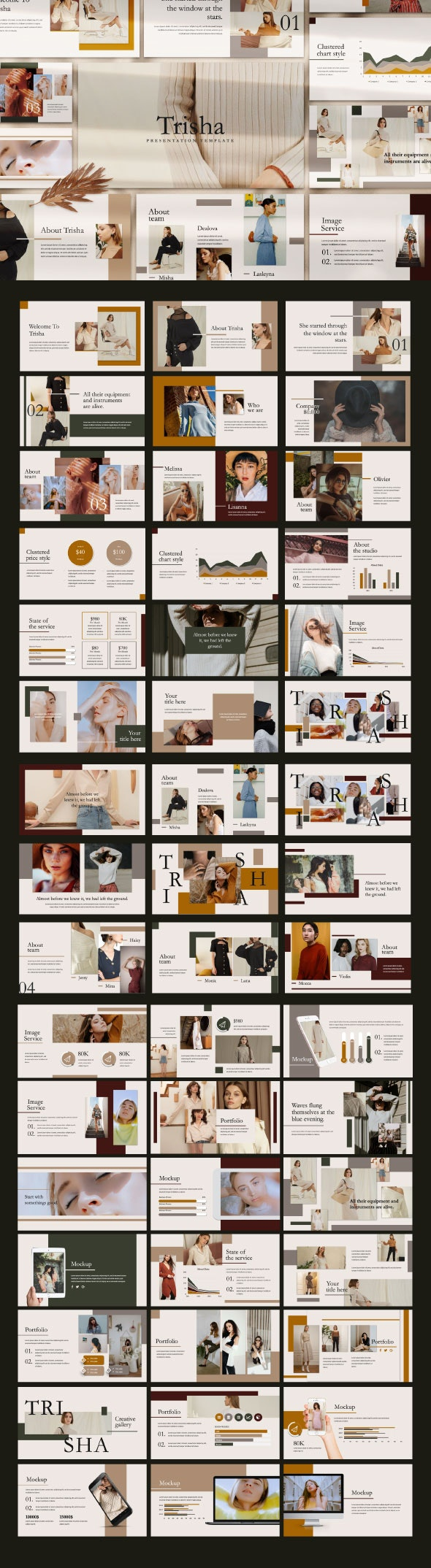 Trisha Google Slide Template - Google Slides Presentation Templates