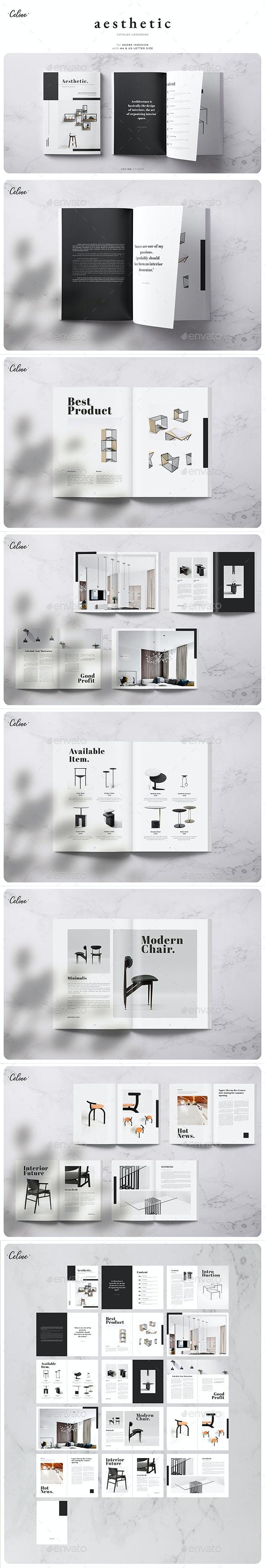 Aesthetic - Catalog Template - Magazines Print Templates
