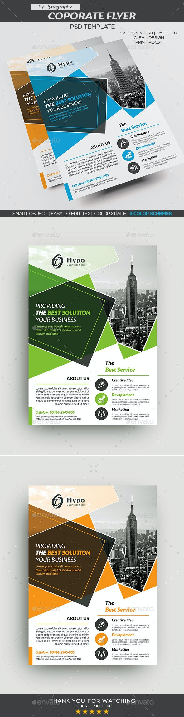 Corporate Busienss Flyer - Corporate Flyers