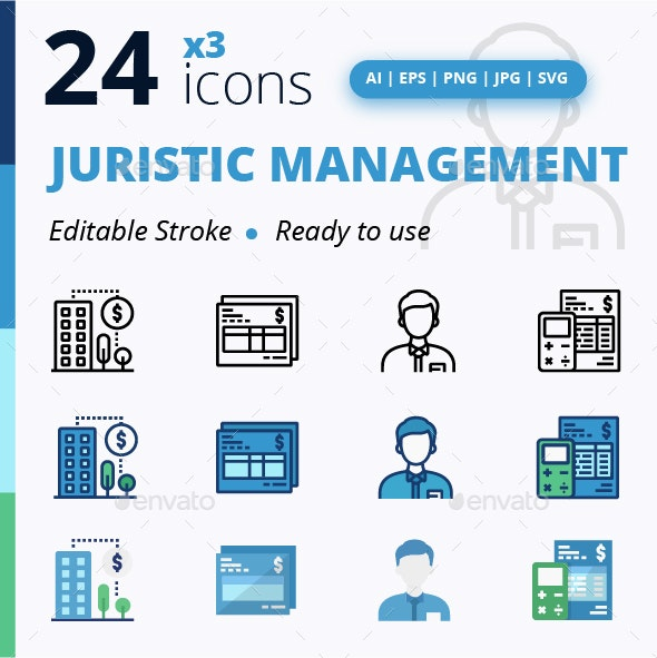 Juristic Management - Business Icons
