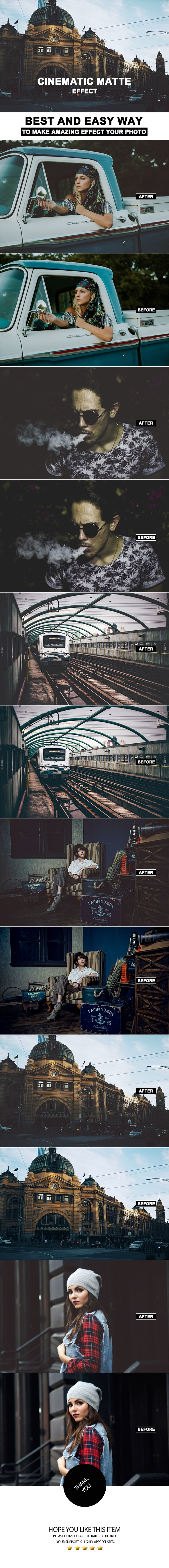 Cinematic Matte Effect - Photo Effects Actions