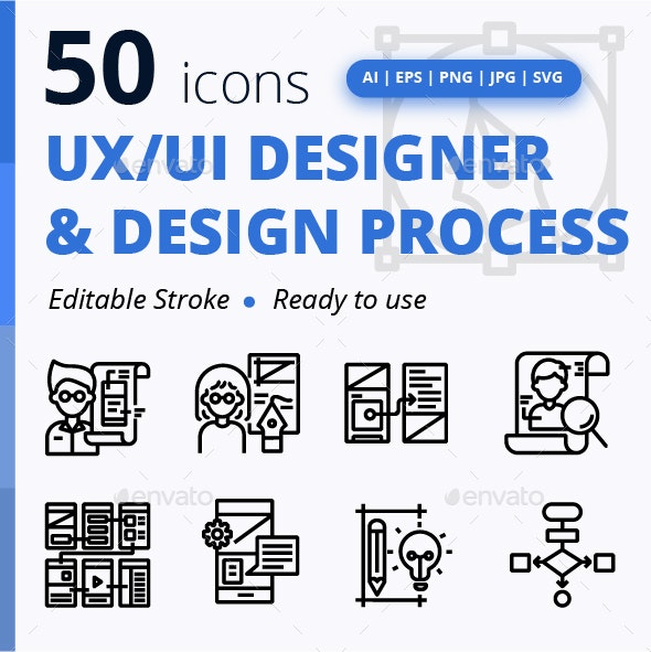 UX/UI Designer & Design Process - Web Icons