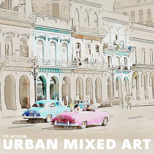 Urban Mixed Art Photoshop Action