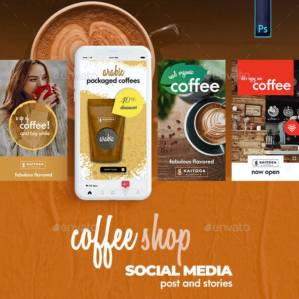Coffee Shop Banner - Social Media Post and Strories