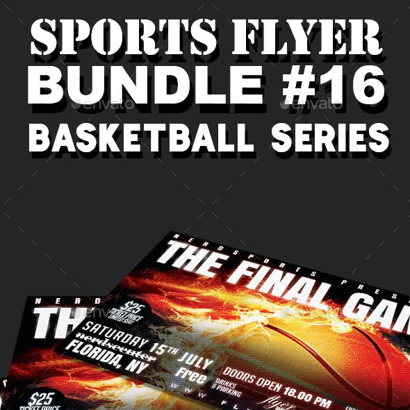 Sports Flyer Bundle 16 Basketball Series
