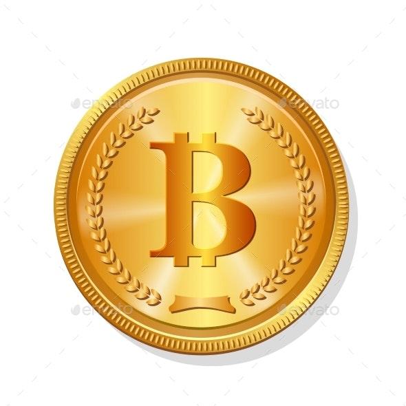 Golden Bitcoin - Miscellaneous Vectors