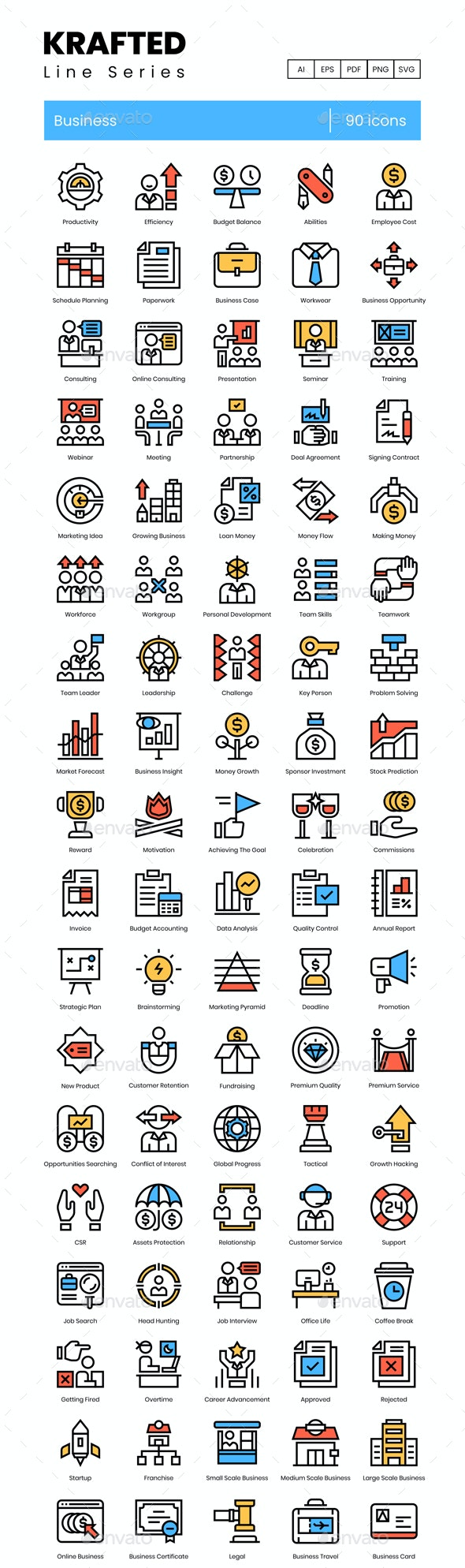 Business Icons - Krafted - Business Icons