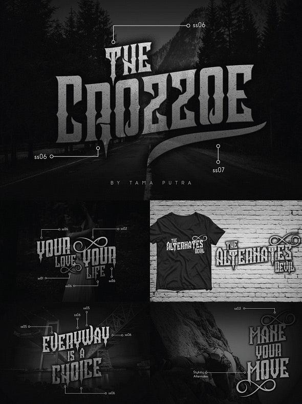 Crozzoe Decorative Serif Typeface - Decorative Fonts