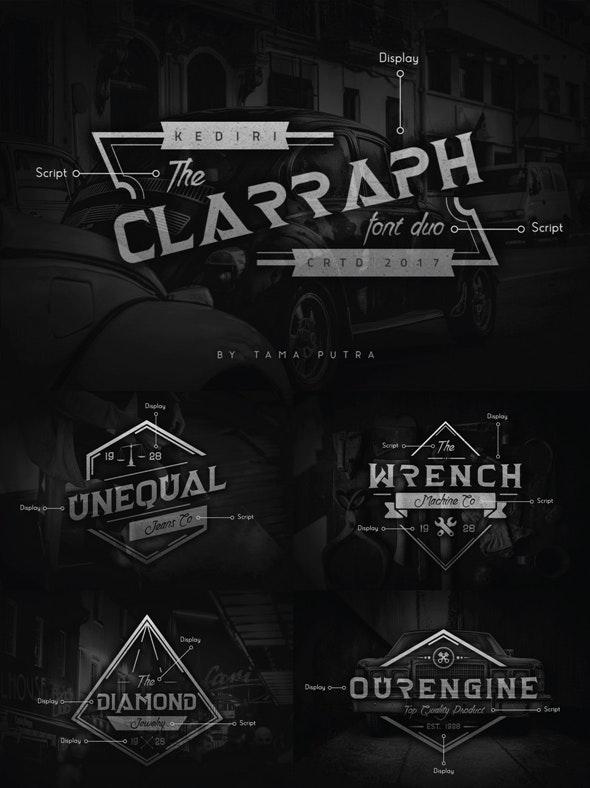 Clarraph Display & Handwritten Font Duo - Serif Fonts