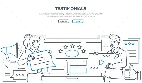 Company Testimonials - Line Design Style Web - Concepts Business