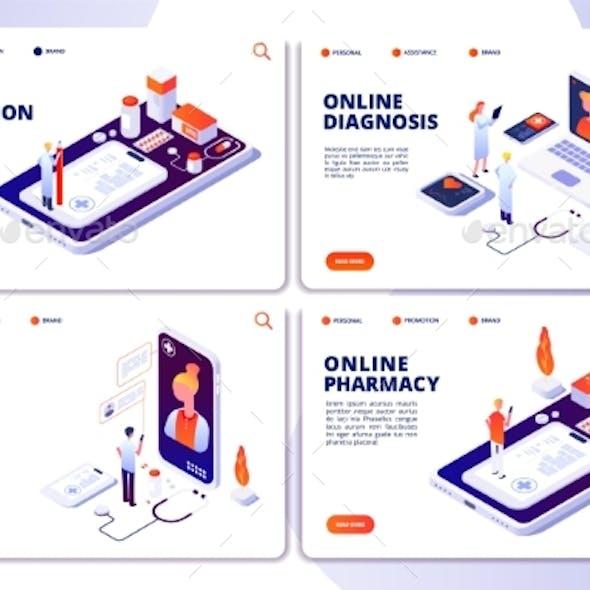Vector Online Pharmacy and Online Doctor