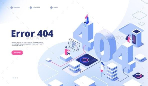 404 Isometric Page Not Working Error Lost - Web Technology